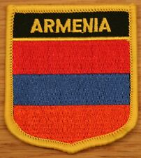 ARMENIA Armenian Shield Country Flag Embroidered PATCH Badge P1