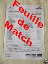 Feuille de Match France Brésil 98 N°1 Zidane Rare finale Coupe du monde