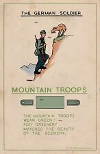 NEW A4 PRINT WW2 THE GERMAN SOLDIER BRITISH ARMY RECCE POSTER MOUNTAIN TROOPS