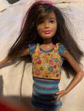 Modern Teen Skipper Brown Hair with Pink Hair Stripes Barbie Doll Sister