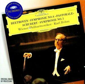 Beethoven - Symphonie Nr. 6, Pastorale / Schubert - Symp. Nr. 5, Bohm  -  CD, VG
