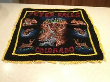 Vintage Seven Falls Coloroado Pillow Sham Cover Souvenir Fringed Gently Used
