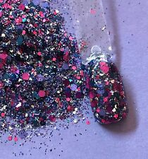 glitter mix nail art acrylic gel    MIXED BERRIES  Limited Edition