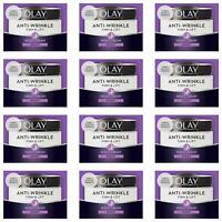 12 Olay Anti-Wrinkle Firm Lift AntiAgeing Moisturiser Night Cream Hydrating 50ml