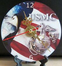 Brand New, United States Marine Corps USMC CD Clock Military Jarheads