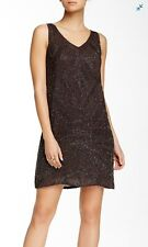 Calypso St Barth Nene Dress CBF141116 Size Small Brown Beaded