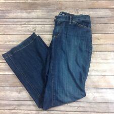 Eddie Bauer Curvy Trousers Jeans Sz. 12 Denim Blue Cotton Blend A01
