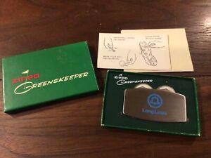 "Zippo ""LONG LINES"" Golf Greenskeeper w/box, paperwork & Marker Coins"