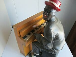 Vintage Black Americana Piano Playing Blues Singer