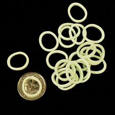 WHITE ELASTIC BANDS FOR HORSE HAIR BRAIDING SHOWING Pk of 20