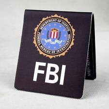 FBI Slim Funny Canvas Handmake Bifold Wallet Purse Short Wallet