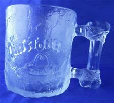 The Flintstones Coffee Mug Cup McDonald's 1993 Pre Dawn Glass Promotional Clear