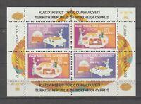 S36147 Turkish Cyprus 2005 Europa Cept MNH S/S Gastronomy