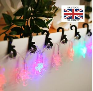 Mini Gutter Hanging Hooks Clips Outdoor Xmas Decor Icicle Fairy Lights Plastic