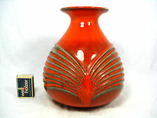 Well shaped 70´s  WGP design FOHR Relief Keramik pottery vase 336 - 20