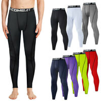 Mens Compression Pants Tights Under Skin Bottom Sport Fitness Leggings Quick Dry