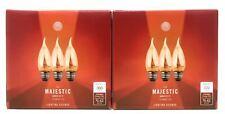 6-Pack 40W LED Amber B11 Medium Base Dimmable Filament Edison Light Bulbs