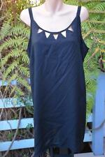 BeMe OCCASIONS Size 20. DIP HEM Black Tunic TOP NEW rrp $49.99 Cut-Out Neckline