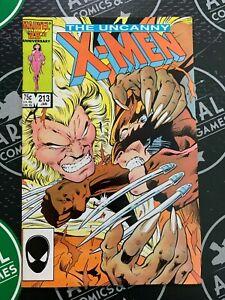 Uncanny X-Men #213 214 215 216 1987 Mutant Massacre Wolverine vs Sabretooth!