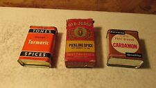 3 Old Spice Tins Tones Old Judge Fairway