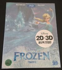 Disney Frozen 3D Blu-Ray SteelBook Korea Region Free w/SlipCover New OOP & Rare!