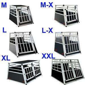 Aluminium Hundetransportbox ALU Hunde transportbox Autotransportbox Neu