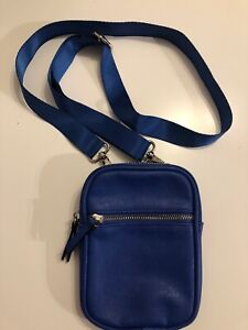 Wild Fable Blue PU Faux Leather Crossbody Man Bag Side Pouch