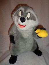 "Disney Pocahontas Meeko Racoon 17""  Plush Soft Toy Stuffed Animal"