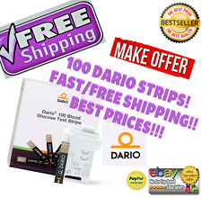 BRAND NEW 100 PACK Dario Blood Glucose Test Strips Exp:Jan/2023 FREE SHIPPING!!!