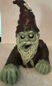 Crawling Zombie Gnome Garden Sculpture, Halloween Decoration