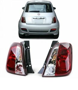 Clear Finish Tail Lights Rear Lights in Red / Clear for Fiat 500 from 2007
