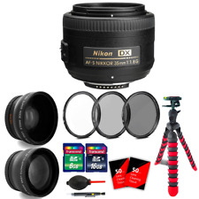 Nikon AF-S DX NIKKOR 35mm f/1.8G Lens + 24GB Top Accessory Kit