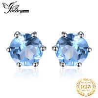 JewelryPalace Damen Neu Genuine Blau Topas Ohrstecker Ohrring 925 Sterlingsilber