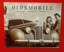 Vintage 1938-1939 OLDSMOBILE SERIES 60 70 80 SALES BROCHURE COUPE SEDAN 36 PAGES