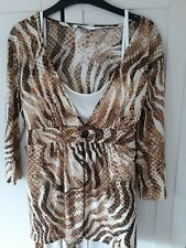 Size 10 long sleeve brown top from BHS
