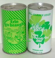 Happy St.Patrick's Day Beer VINTAGE 1979+1980 TIN CANS WALTER>WISCONSIN SHAMROCK
