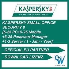 Kaspersky Small Office Security 8 5-25 PC + 5-25 Mobile + 1-3 Server 1 - 2 Jahre