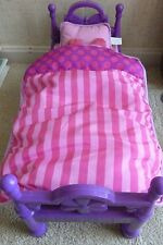 """NEW MY LIFE as DOLL BED COMPLETE 4 PC SET FITS AMERICAN GIRL 18"""" DOLLS PURPLE"""