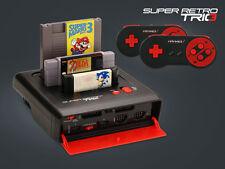 Retro-bit Super Retro Trio 1 en 3-Console ✔ rouge/noir ✔ NES/SNES/MegaDrive Pal ✔