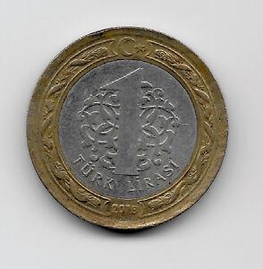 World Coins - Turkey 1 Lirasi 2013 Bi-Metallic Coin KM# 1244