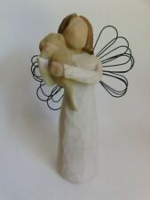 "Willow Tree ""Angel of Friendship"" Angel Holding Puppy Demdaco Susan Lordi 1999"