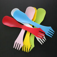 6pcs/set Plastic Spork Spoon Fork Outdoor Camping Hiking < Travel B3B9 Cutl U4F8