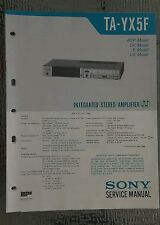 Sony ta yx5f Service Manual schematic stereo amplifier amp Original repair book