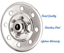 """15"""" WHEEL COVER HUBCAP FOR CARS TRUCKS & TRAILERS POLISHED STAINLESS STEEL ©"""