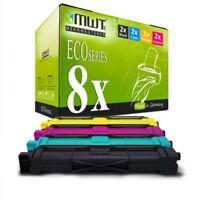 8x MWT Eco Cartucho Compatible para Brother HL-3170-CDW HL-3150-CDN HL-3150-CDW