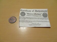 East India Company X Cash Shipweck Coin COA 1808 Admiral Gardner Strong Details