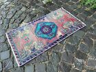 Decor rug, Organic vintage rug, %100 wool handmade, Turkish rug | 1,6 x 2,9 ft