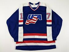 CRAIG LUDWIG Team USA World Championships GAME ISSUED CCM Hockey Jersey #17
