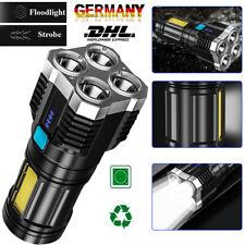 Super hell Taschenlampe LED USB Taktisches Fackel 18650 Wiederaufladbar Batterie