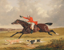 Herring Frederick John Encouraging Hounds Canvas 16 x 20  #2674